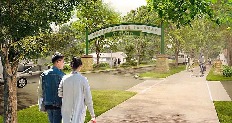 rendering of grant avenue parkway concept