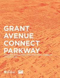 orange cover of Grant Avenue Connect Parkway concept plan