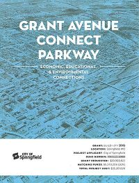 blue cover of Grant Avenue Connect Parkway project narrative
